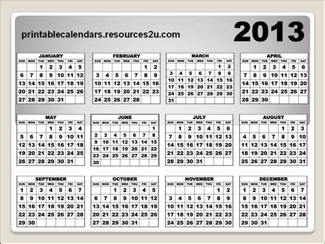 2013 calendar printable excel male models picture 2013 yearly calendar printable templates male models picture