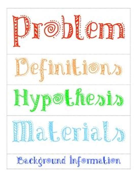 Science Fair Labels Templates science fair project labels