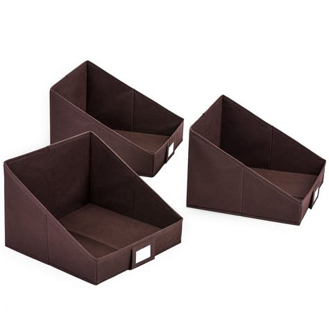 organizer bins closet shelf storage bin maidmax set of 3 non woven