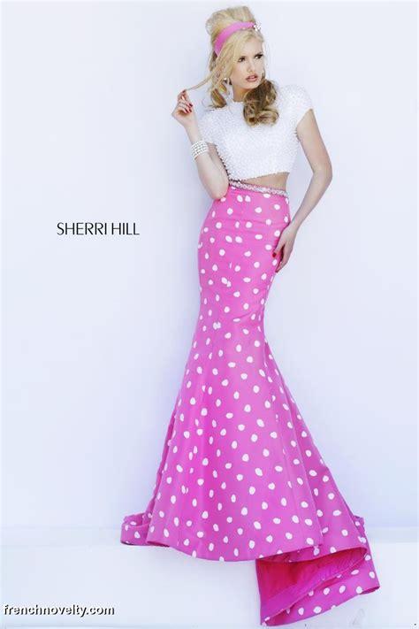 Dress Mermaid Polka sherri hill 32226 2pc mermaid dress with polka dots novelty