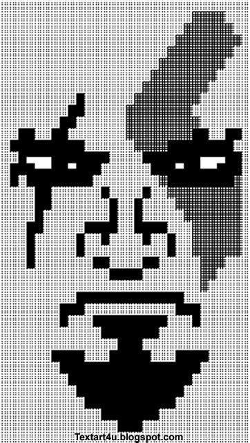 god  war kratos face ascii text art cool ascii text art