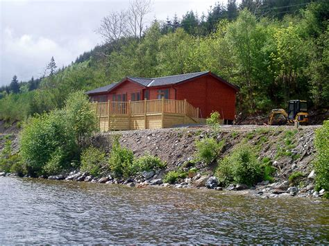 Cabins In Loch Ness by Loch Ness Park Inverness Highlands And Islands