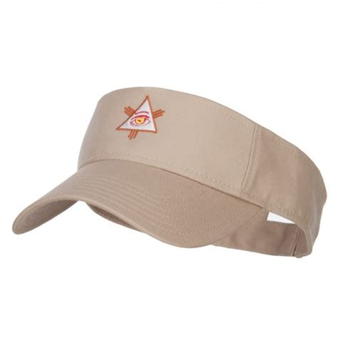 Eye Visor Cap visor khaki all seeing eye embroidered visor e4hats