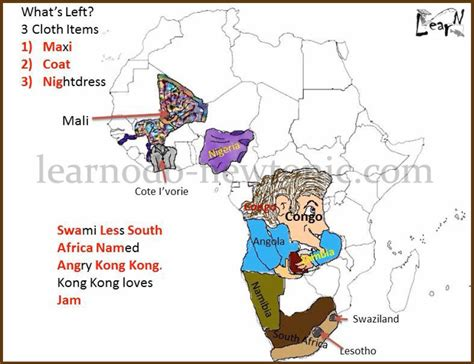 africa map learn learn the map of africa easily by this