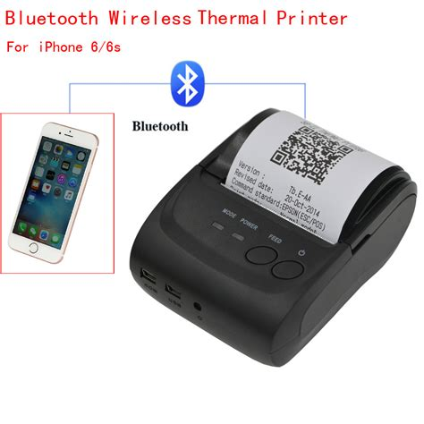 Mobile Portable Mini Printer Thermal Bluetooth mini wireless 58mm portable bluetooth thermal printer receipt for android mobile ebay