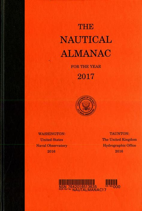 the nautical almanac for the year 2017 u s government