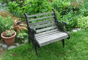 small outdoor benches photo pixelmari