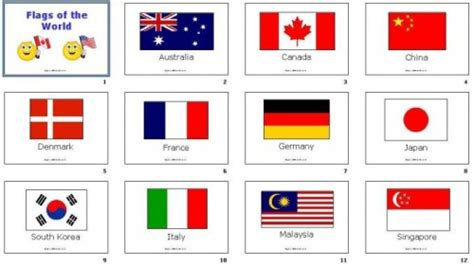 Home Decor Nation diy flashcards 17 flags of the world