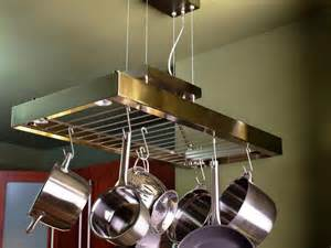 Overhead Pot Rack With Lights Space Saving Ideas For Room In The Kitchen Diy
