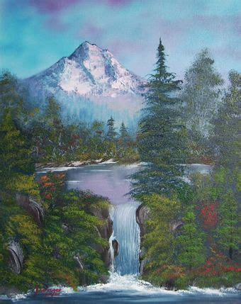 bob ross painting waterfalls waterfall paintings search waterfall paintings