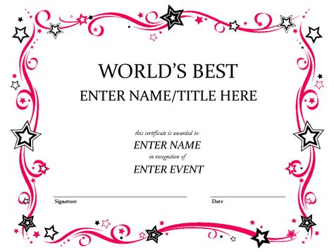 award certificates word award certificate template word exle mughals