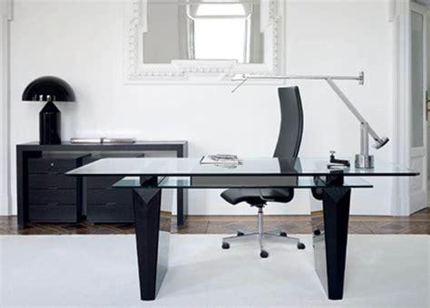 Black and white home office furniture interior design architecture