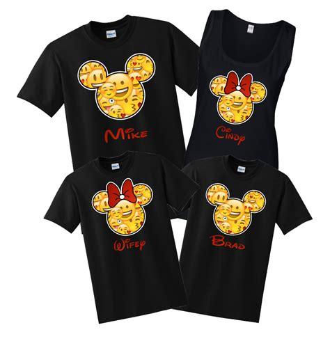 disney wallpaper t shirt disney family emoji face custom t shirts black the
