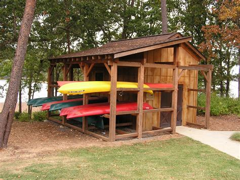 canoe boat house canoe racks built with trusses and traditional wood
