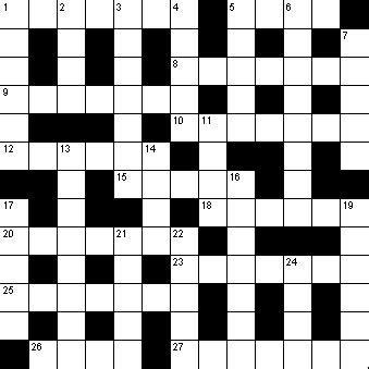 crossword template empty crossword template