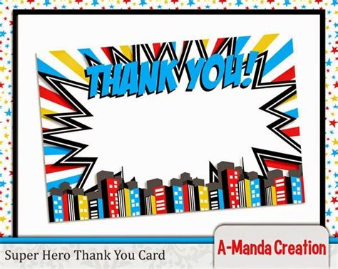 printable birthday cards superhero 25 unique superhero thank you cards ideas on pinterest