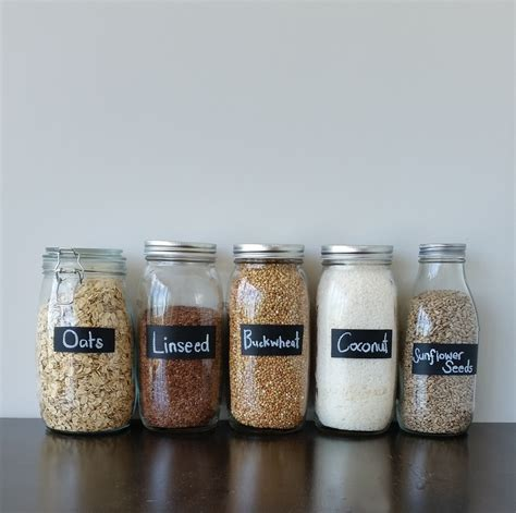diy project painted chalk labels for your glass jars