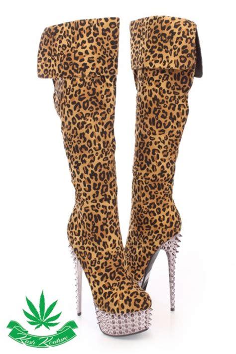 leopard print high heel boots 9 leopard print high heel boots for 75 high heels