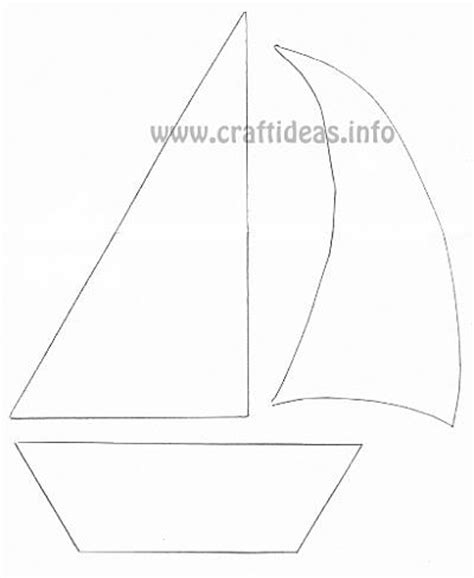 paper boat cut out template free craft patterns and templates for summer sailboat