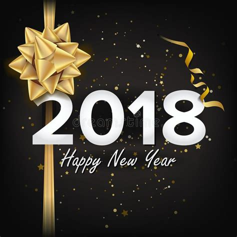 new year template 2018 2018 happy new year vector greeting card