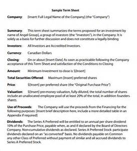 revenue contract template term sheet template 9 free documents in pdf word