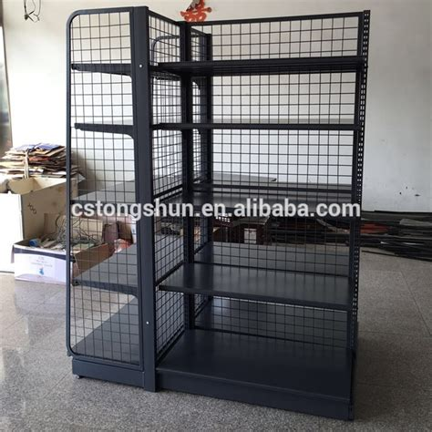 top quality grocery store display shelf with wire mesh