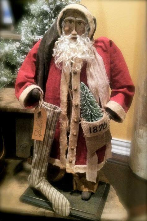 Handmade Primitives - handmade primitive santa