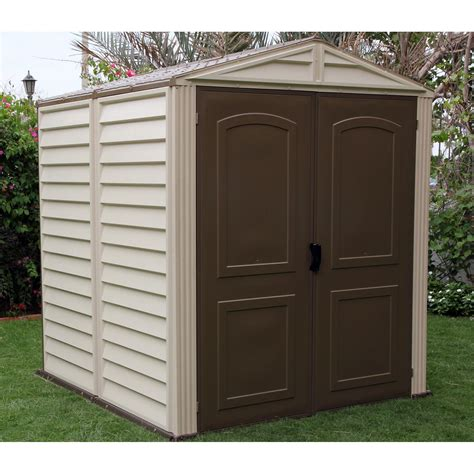 duramax woodside vinyl shed 10 x 8 ft duramax woodside vinyl shed with floor 6 x 6 ft