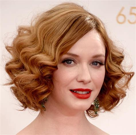 how to do easy 1920s hairstyles for mid hair with fringe get the look 1920s waves like christina hendricks emmys