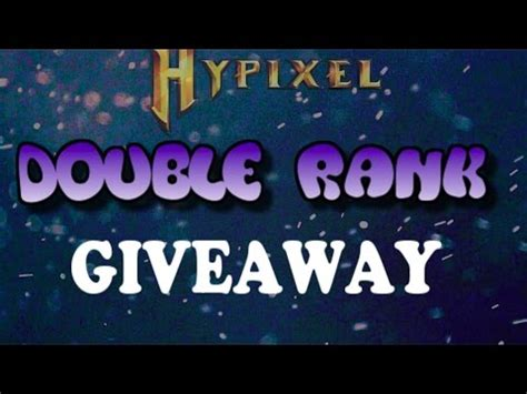 Hypixel Giveaway - hypixel double rank giveaway upgrade ended youtube