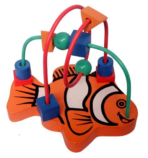 Stiker Yss 2 Pcs Besar Dan Kecil alur kawat 2 karakter kecil ikan mainan kayu