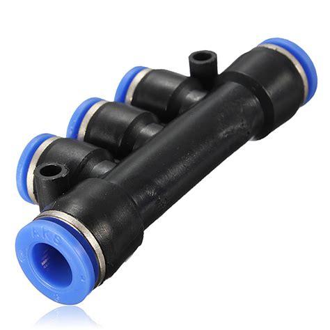 Fitting Pneumatic T Ukuran Selang 4mm selang udara pneumatik tabung tekan di pas berjenis cepat