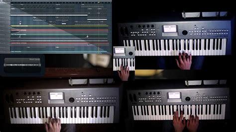 daft punk keyboard daft punk around the world keyboard cover youtube
