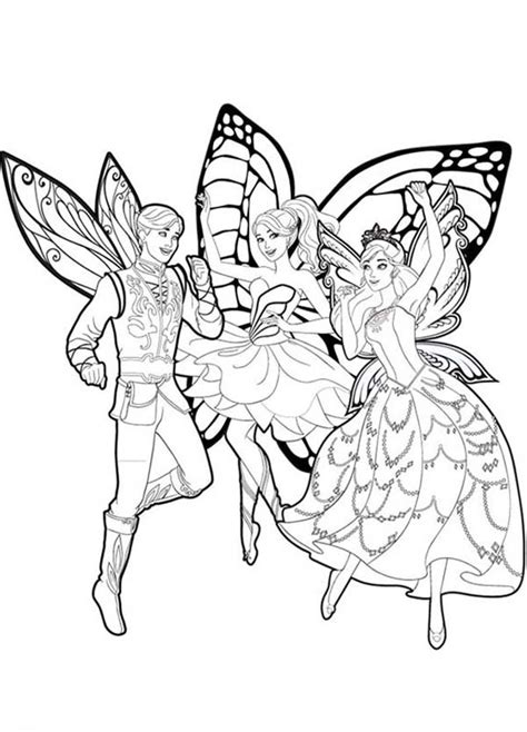 barbie butterfly coloring pages barbie mariposa and her butterfly fairy friends coloring