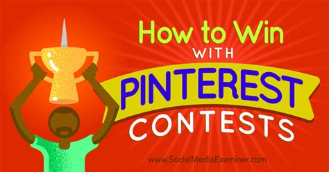 Social Media Sweepstakes - social media examiner pinterest crafts