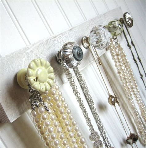Door Knob Necklace Holder by Room Jewlery Organizer Knob Rack In Yellow And Gray