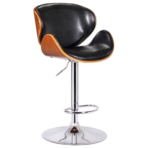 Black Swivel Stool by Adjustable Swivel Bar Stool In Black 99530
