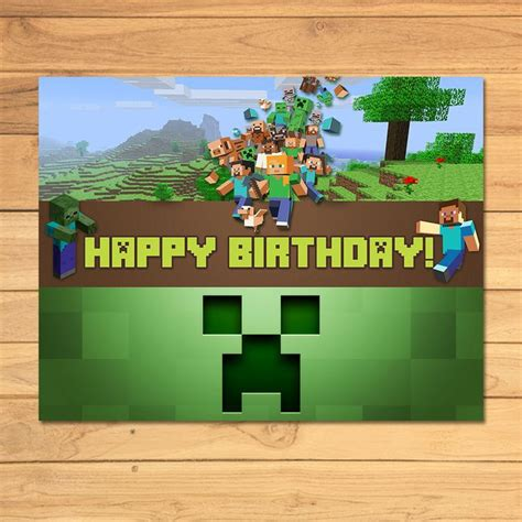 printable minecraft poster 30 best minecraft party printables images on pinterest