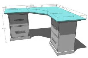 Corner Desk Blueprints White Office Corner Desktop Plans Diy Projects