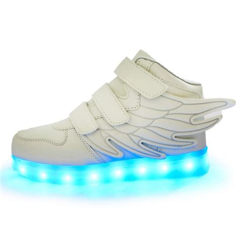 white light up shoes kids white led light up shoes with wings beautifully packaged