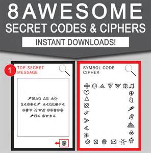 code templates secret codes for diy decoder cipher templates