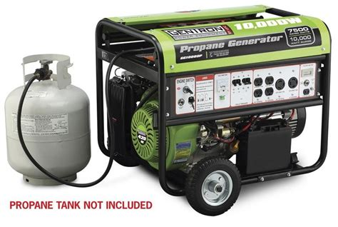 gentron propane generator 10000 watt electric start lp