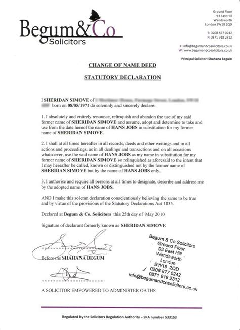deed poll name change letter template name change deed midway media