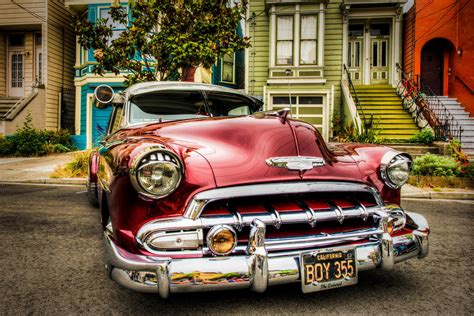 retro cers vehicles cars chevy chevrolet 1952 lowriders classic cars
