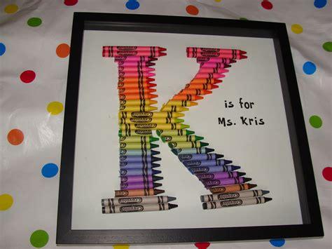 Gift Ideas Letter K gift crayon monogram letter k my letter k
