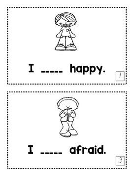 Feelings Book by My Kindergarten Farm   Teachers Pay Teachers