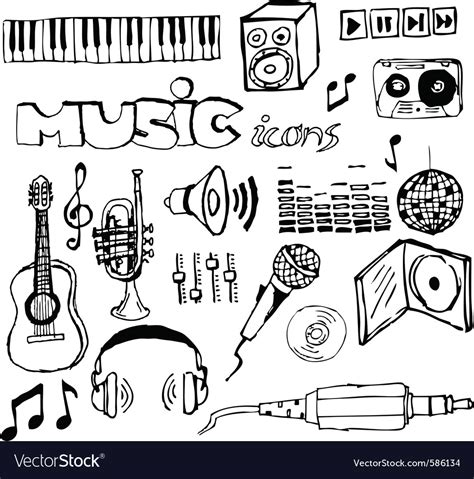 free lagu musical doodle doodle icons royalty free vector image vectorstock