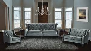 armen living 3 barrister velvet sofa set