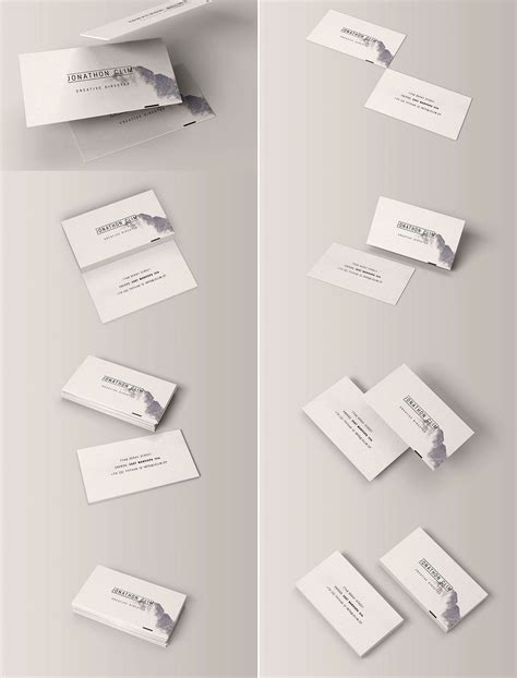 mock up template 115 high quality free psd business card mock ups