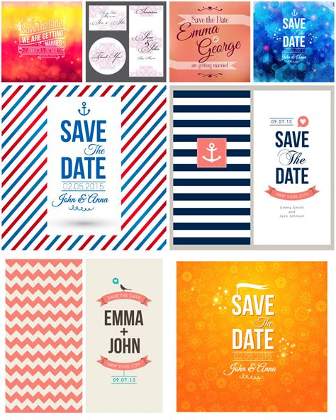 save the dates templates free wedding vector graphics